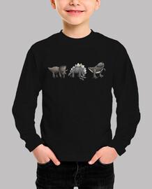 más los niños de dinosaurios camiseta