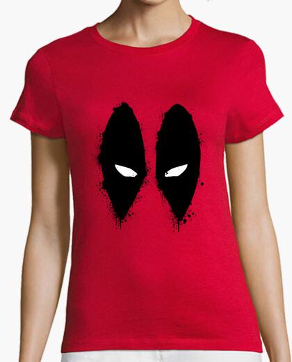 Camiseta Masacre (DEADPOOL). Manga corta roja chica