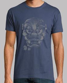 Máscara Japonesa Demonio Kanji Gris