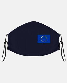 Mascarilla con la bandera de Europa