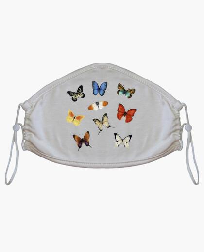 Mascarilla Estampado de mariposas de colores