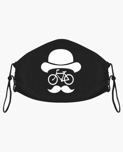 Mascarilla movember bike white