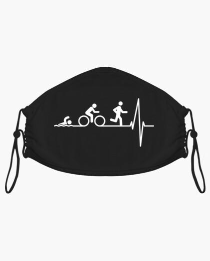 Mascarilla Triathlon en el Corazón, Latido