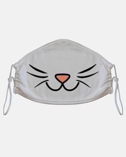 maschera per gatti con baffi