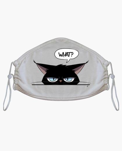 Mascherina maschera scontrosa del gatto nero