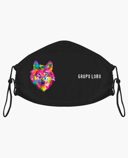Mascherina maschera di gruppo lupo