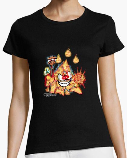 Camiseta Mascota Chakry Clase Mago Fuego (Mujer)