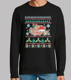 Mascota Erizo Ugly Navidad