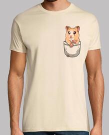 mascota linda del hámster de bolsillo - camisa para hombre