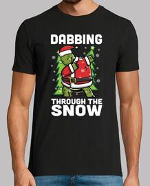 Mascota Tortuga Terrestre Dab Navidad