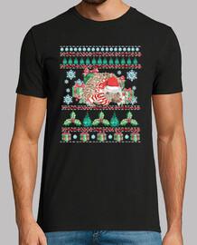 mascotte de hérisson de Noël ugly