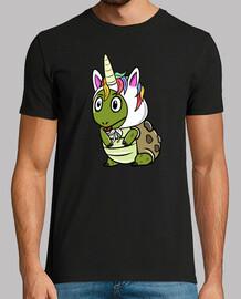 mascotte de tortue licorne