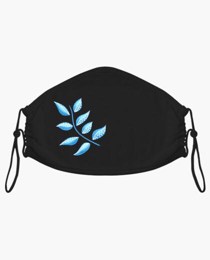 Masque Abstrait botanique jolie plante bleue