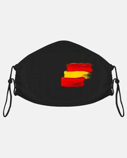 masque facial en tissu adulte, drapeau espagnol