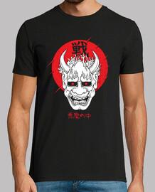 masque japonaise art démon oni diable harajuku esthétique t-shirt