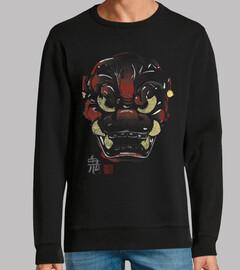 masque japonaise démon kanjis