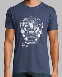 masque japonaise démon kanji blanc