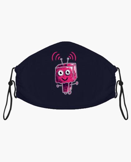 Masque robot rose mignon avec tête de sac...