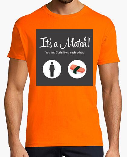 Tee-shirt match de l'homme sushi