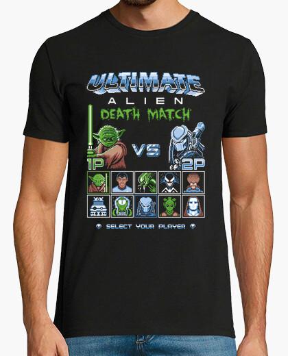 Tee-shirt match de mort extraterrestre ultime / 8bit jeux / hommes