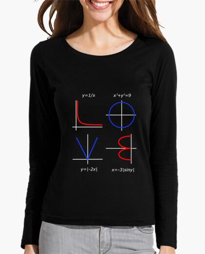 Camiseta matemáticas divertida amor