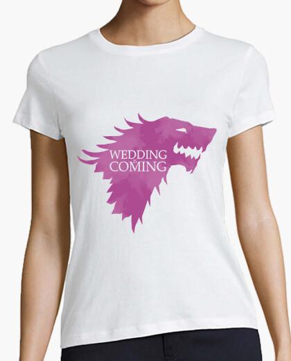 T-shirt matrimonio è in arrivo. addio al nubilato