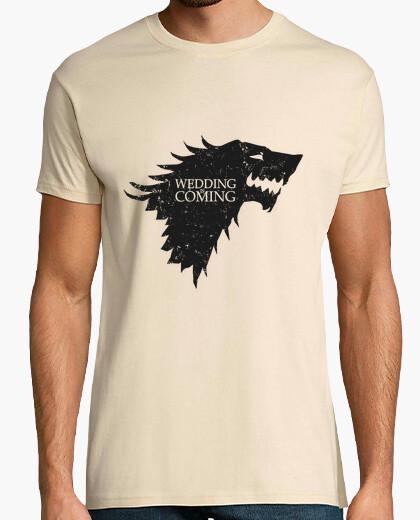 T-shirt matrimonio sta coming
