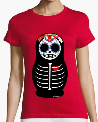 Camiseta Matrioska Día de los muertos