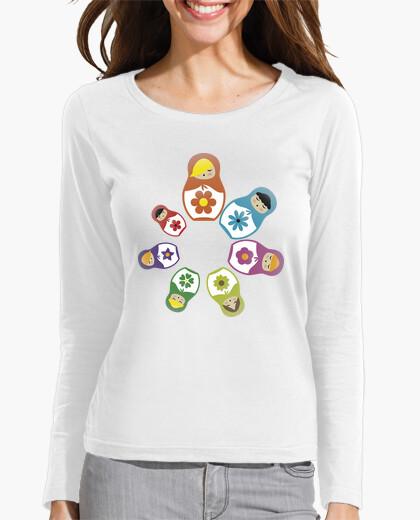 Tee-shirt Matryoshkas Circular - Manches Longues Femme
