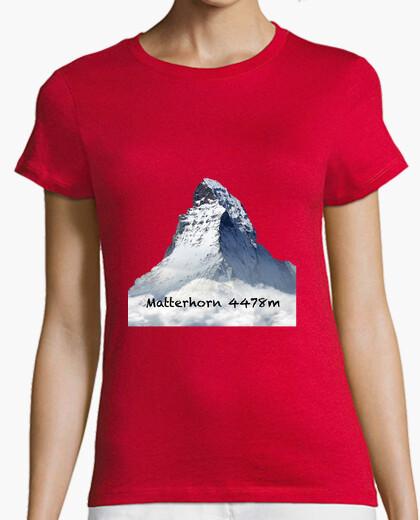 Camiseta Matterhorn  Mujer, manga corta, naranja, calidad premium