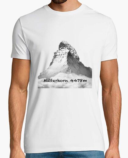 Camiseta Matterhorn Hombre, manga corta, blanco, calidad extra
