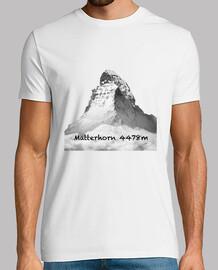 Matterhorn Hombre, manga corta, blanco, calidad extra