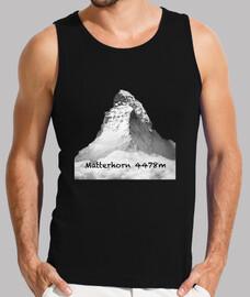 Matterhorn Hombre, sin mangas, negra