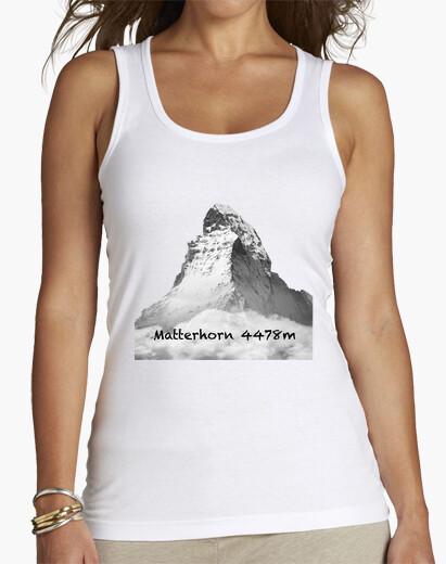 Camiseta Matterhorn Mujer, sin mangas, blanca