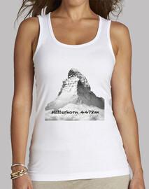 Matterhorn Mujer, sin mangas, blanca
