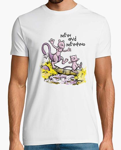 Camiseta maullido y mewtwo camisa para hombre