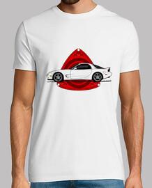 Mazda RX7 FB con rotor rojo y fondo tra