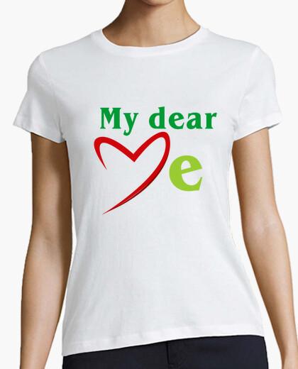 Camiseta MD love me textes verts (Dessin 800060
