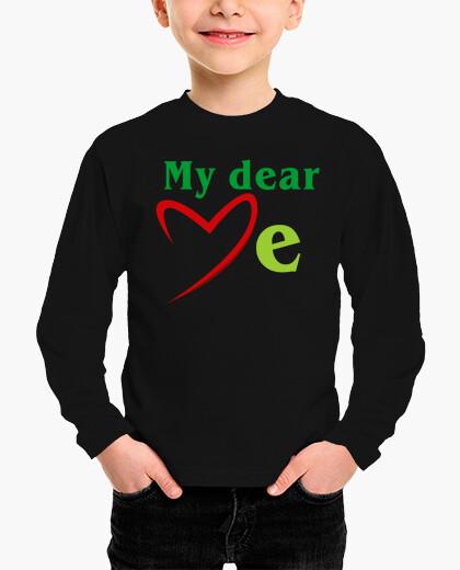 Ropa infantil MD love me textes verts (Dessin 800060