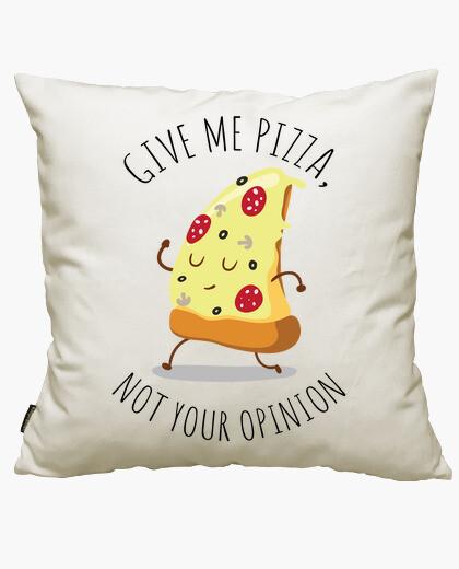 Housse de coussin me donner la pizza