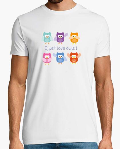 Camiseta me encanta búhos!