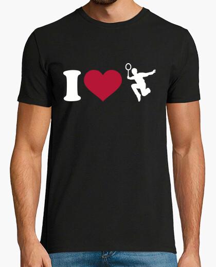 Camiseta me encanta el bádminton