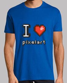 me encanta pixelart - hombre camiseta