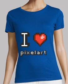 me encanta pixelart - mujer camiseta