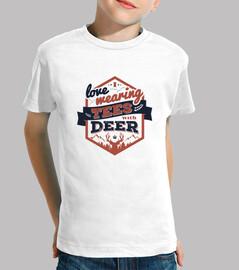 me encanta que llevan las camisetas con ciervos camiseta infantil