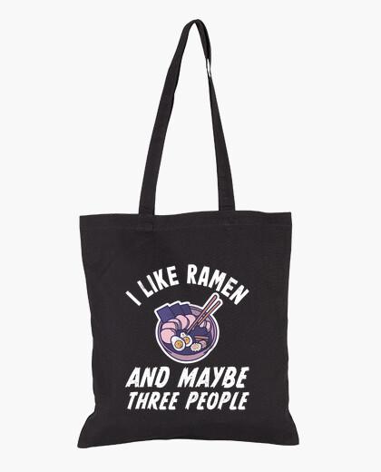 Bolsa me gusta el ramen y tal vez el regalo d