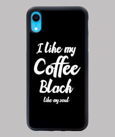 me gusta mi cafe negro como mi alma