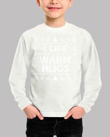 me gustan los abrazos cálidos