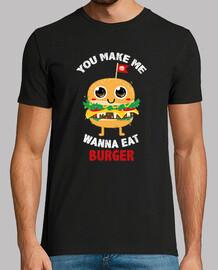 me haces querer comer hamburguesas
