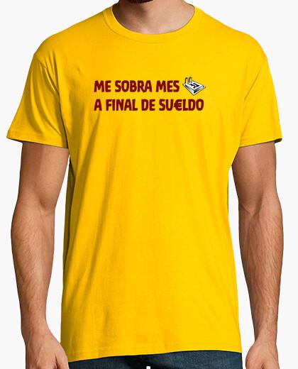 Camiseta Me sobra mes a final de sueldo (fondo claro)